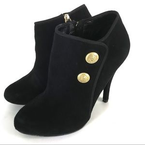 Guess Black Suede Ankle Boots Sz 8